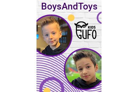 Boys and Toys на шопинге в Gufo kids