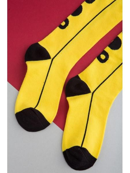 Гольфы желтые с брендовым принтом JoJo