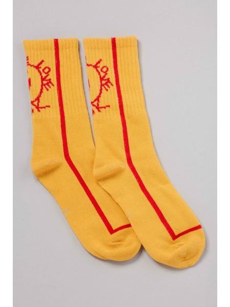 Носки со смайликом и красной линией Manan
