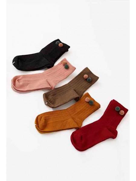 Носки трикотажные с помпонами Gufo