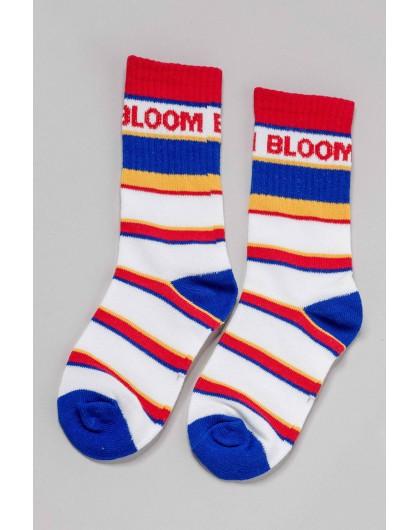 Носки в разноцветных полосах с вышивкой BLOOM Manan