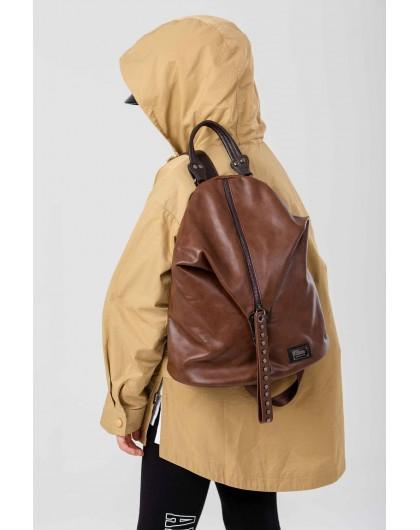 Рюкзак кожаный с застежкой трансформер JO JO