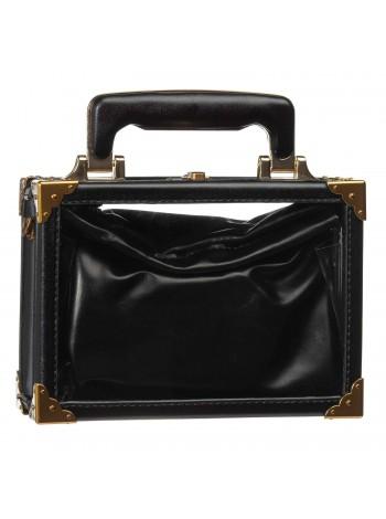 Сумка прозрачная с кожаным клатчем внутри Gufo