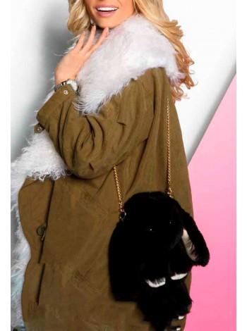 Рюкзак зайчик, искусственный мех Gufo