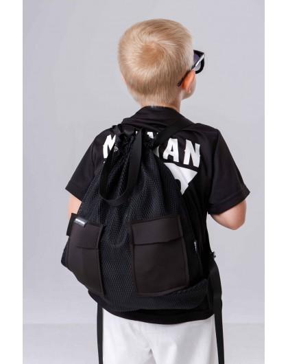Рюкзак черная сетка JO JO