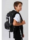"""Рюкзак черный с принтом """"мяч"""" и брендовой нашивкой JO JO"""