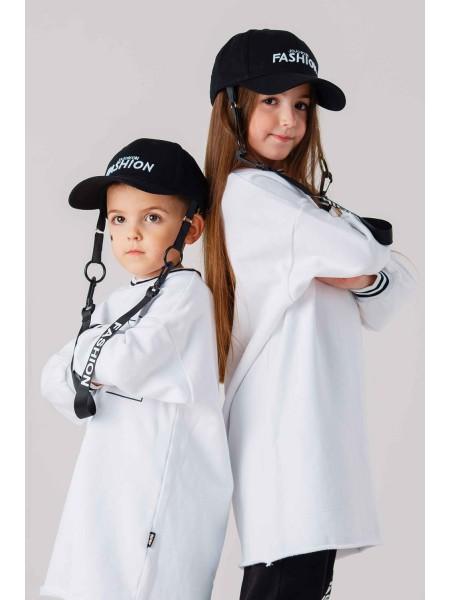 Бейсболка с ремешком и вышивкой FASHION JO JO