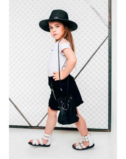 Соломенная шляпа черного цвета  JO JO