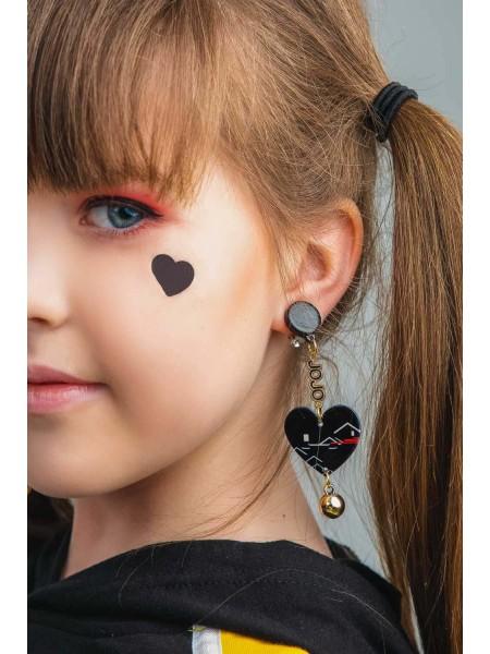 Детские клипсы для ушей «Сердечки» JO JO