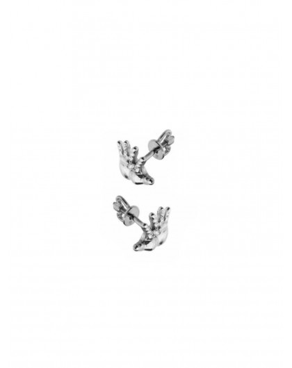Серьги-гвоздики «Звезда на ладони» Steel