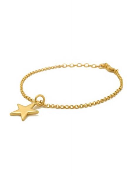 Браслет золотой «Звезда» Karpinski