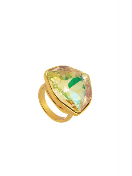 Кольцо с кристаллом Swarovski Karpinski