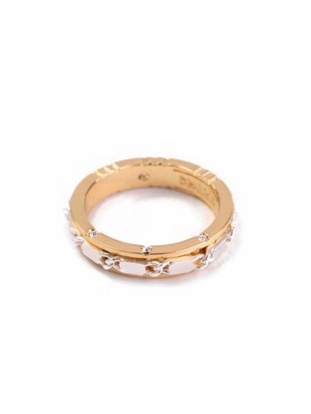 Кольцо золотое с цепью Karpinski