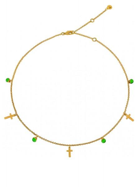 Колье с крестиками и кристаллами COLIBRA