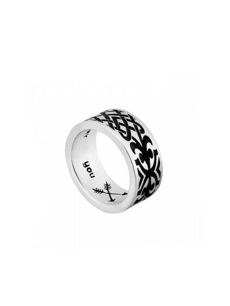 Кольцо серебряное с орнаментом Karpinski