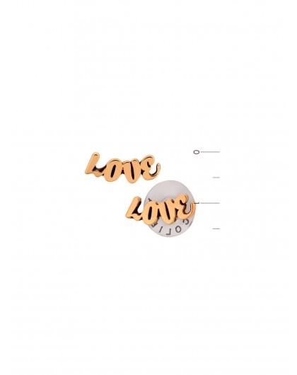"Серьги-гвоздики ""Love"" Karpinski"