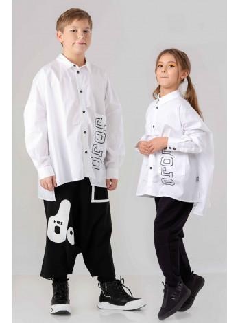 Рубашка с карманом и брэндовым принтом JO JO