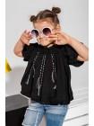 Блуза с рюшами и кисточками JO JO