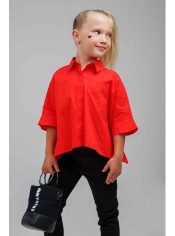 Блуза с рюшами и широкими рукавами JO JO