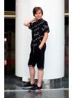 Рубашка с коротким рукавом принт формулы JO JO