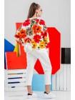 Свитшот с крупными цветами JO JO