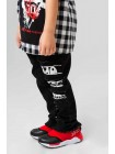 Джинсовые брюки на резинке с брендовым логотипом JO JO