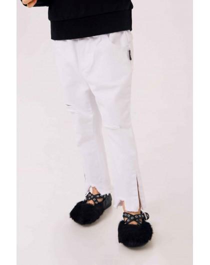 Джинсы с разрезами на штанинах  JO JO
