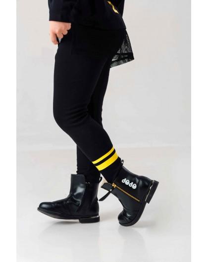Ботинки с золотой молнией JO JO