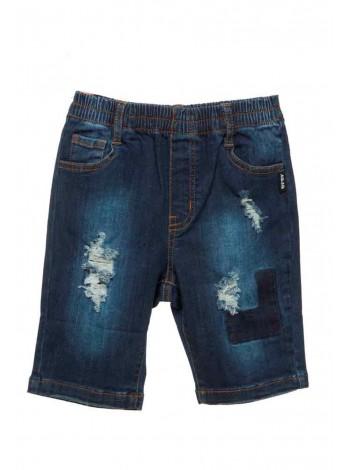 Шорты джинсовые с потертостями JO JO