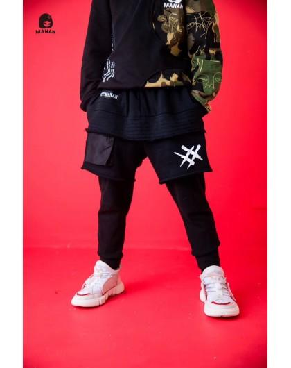 Шорты-лосины с имитация юбки и нашивкой Dypmanan Manan