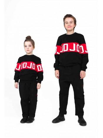 Брюки утепленные с красными строчками JoJo