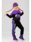 Штаны спортивные с фиолетовыми вставками Manan