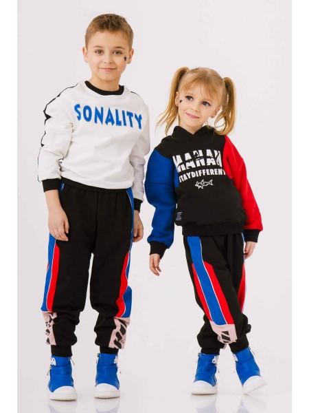 Штаны спортивные с полосами разного цвета Manan