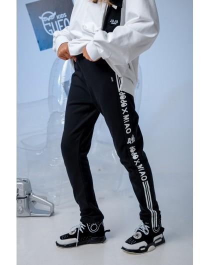Штаны на флисе с брендированными лампасами JoJo