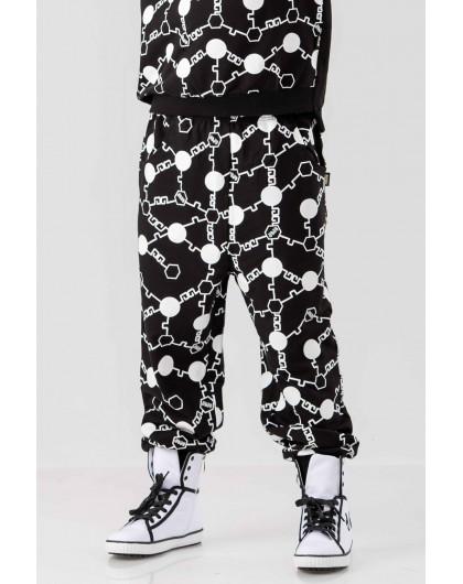 Штаны из натуральной хлопковой ткани с принтом JO JO
