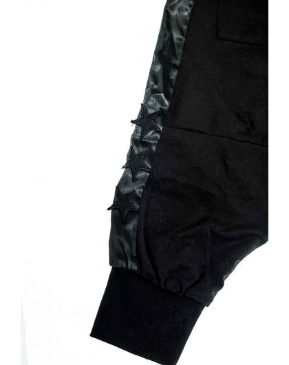 Штаны с заниженной мотней и низкой слонкой JoJo