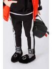 Штаны спортивные с белыми полосами по бокам JO JO
