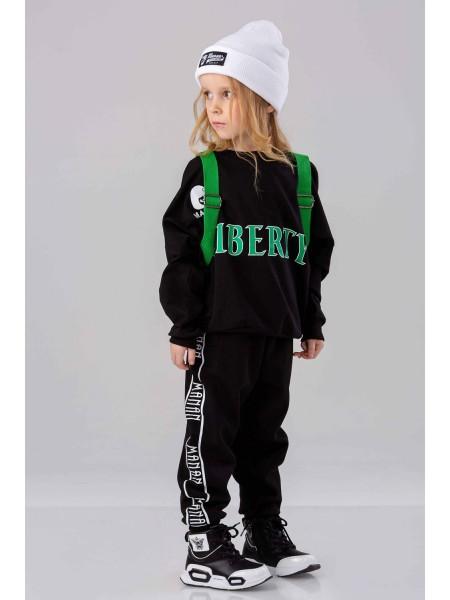 Штаны спортивные с брендовым принтом по бокам Manan