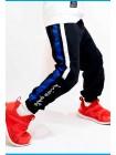 Штаны спортивные с лампасами белые/синие Manan