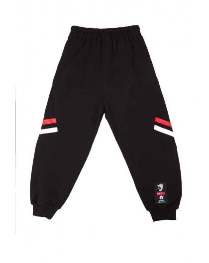 Штаны спортивные с полосами на коленях Manan