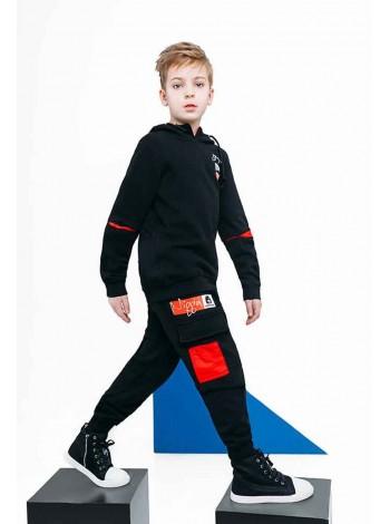 Штаны на завязках с красным карманом Manan