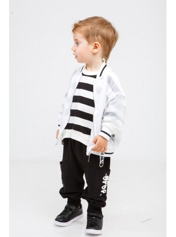 Штаны спортивные с двумя карманами на штанинах и принтом JoJo