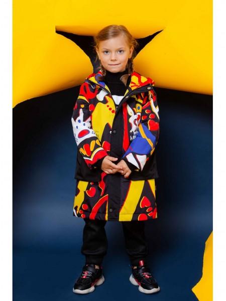 Куртка с капюшоном и цветным рисунком JO JO