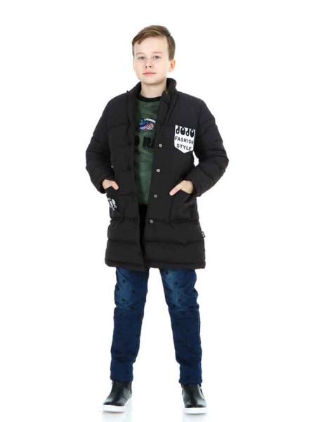 Пальто пуховое на кнопках с принтом Fashion Style JO JO