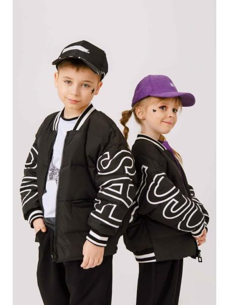 Куртка-пуховик с принтами и  надписями JO JO