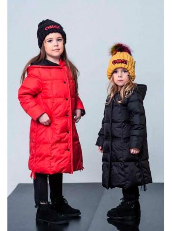Пуховое пальто с кисточками JO JO