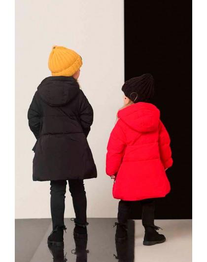 Пуховик- куртка с капюшоном JO JO