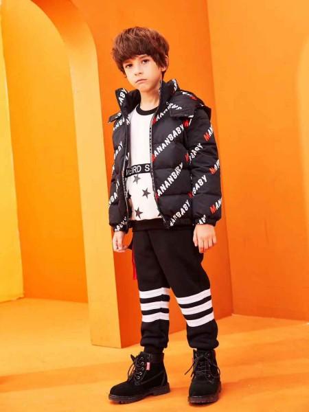 Куртка-пуховик с капюшоном и принтом Manan