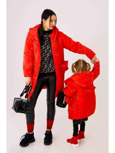 Куртка блестящая с рюшами на карманах JO JO
