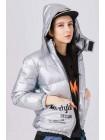 Куртка-пуховик с капюшоном на липучке Manan